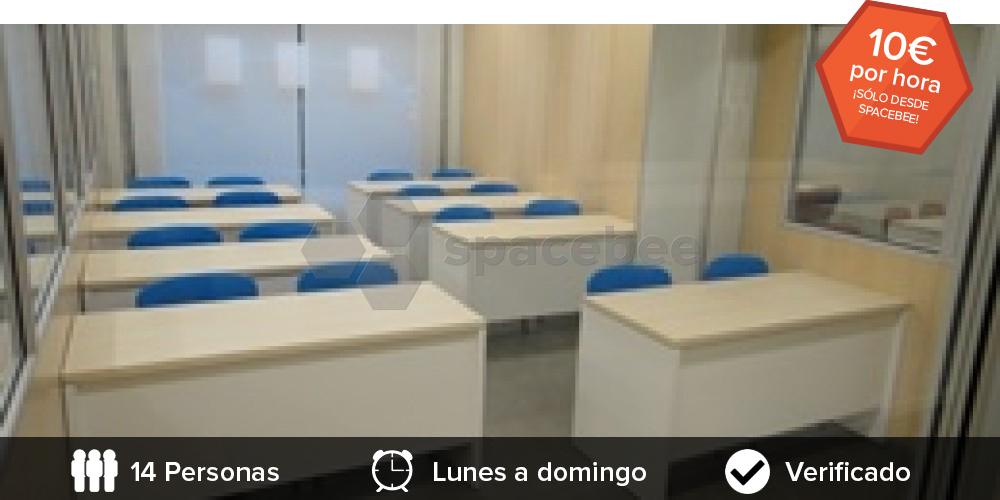 alquilar aula  barata de formacion taller barcelona